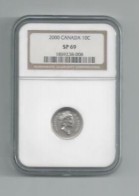 2000 Canada 10 C Dime Sp 69 Ngc