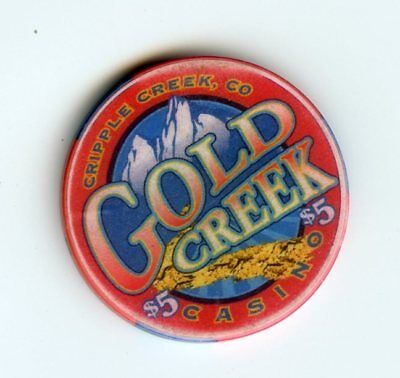 5.00 Chip from the Gold Creek Casino in Cripple Creek Colorado