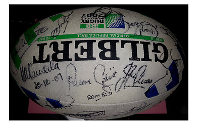 Rugby World Cup 2007 Ball Signed By Springboks And Nelson Mandela With Coa*ten Y