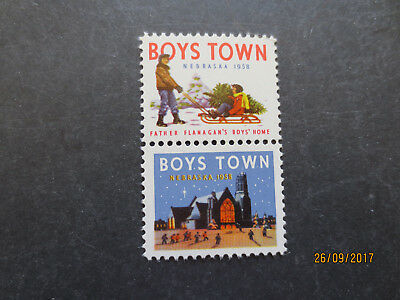 No--1--1958  BOYS  TOWN    STAMP  ISSUES --GREAT  ISSUE