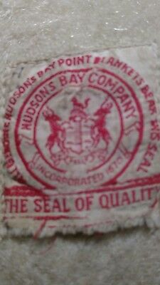 EXTREMELY RARE Vintage Hudson's Bay 3 Point Wool Blanket