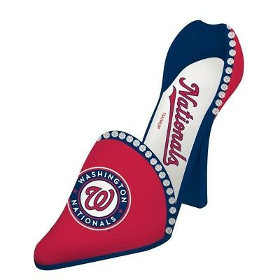 Washington Nationals Resin Logo High Heel Shoe Wine Bottle Holder