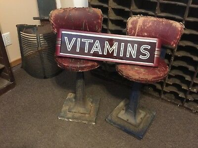 Art Deco Antique Advertising Light Up Sign Reverse Painted Glass ROG Drug Store