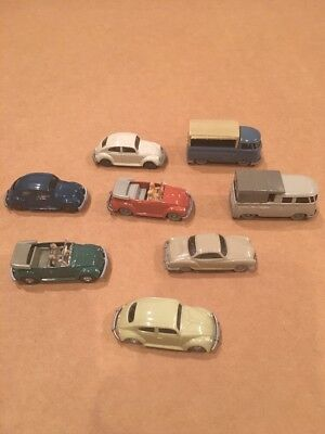 Wiking Volkswagen Collection - 8 VWs All Super Rare