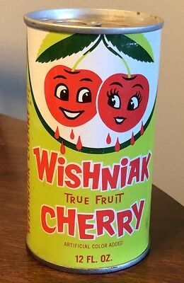 Vintage Wishniak True Fruit Cherry Pull Tab Soda Can