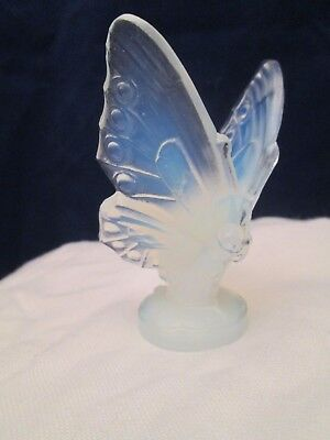 SABINO Opalescent Art Glass Butterfly Open Wing Figurine Signed France MINTY