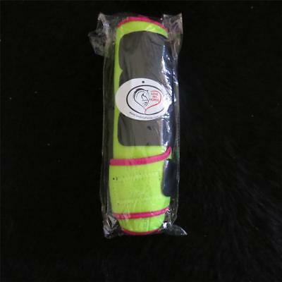 LOVE MY HORSE Neoprene Horse Leg Boots Lime / Pink Size Mini - Xtra Large