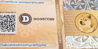 Dogecoin Wallet Paper - Ready for deposit