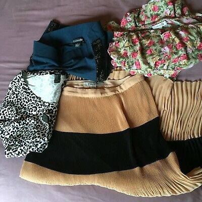 Forever 21 Lot Junior Dress Skirts And Blouse Floral Stripe Size Medium Lot of 4