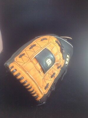 """Wilson A450 12"""" Softball Baseball Right Hand Glove for LH Thrower Glove, Leather"""