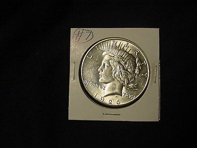 1926-S Peace Dollar in AU condition with free shipping #7