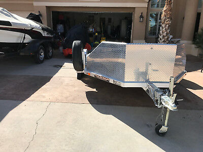 MC210 Motorcycle Trailer 2014 with Spare Tire & 2  Wheel Chocks