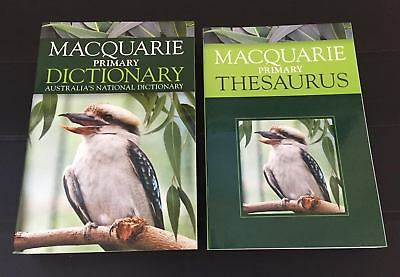 Macquarie Primary DICTIONARY And Bonus Primary THESAURUS by Various [Never Used]