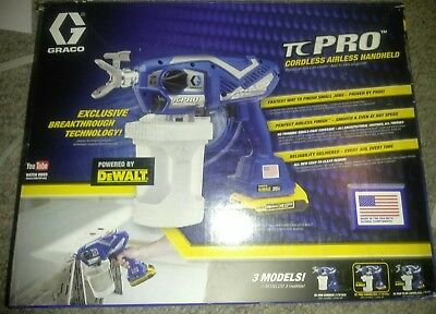 Graco TC Pro Cordless Airless handheld 17N166 With 2 Dewalt 20v Battery /Charger
