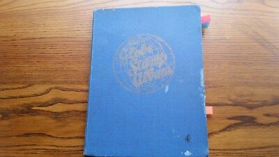 OLD GLOBE STAMP  ALBUM: MIXED LOT OF WORLD STAMPS - 2250 of  OLD USED STAMPS.