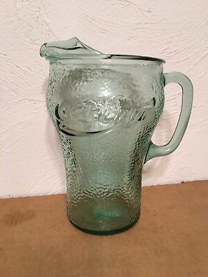 Coca Cola Green Glass Serving Pitcher