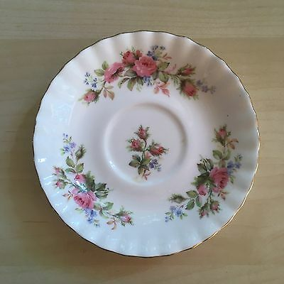 Royal Albert English Bone China Moss Rose Saucer