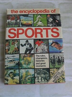 VINTAGE c1975 THE ENCYCLOPEDIA OF SPORTS - MARTIN TYLER - HARDCOVER - RARE