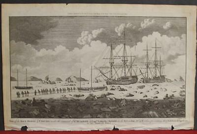 North Pole Arctic Lands 1784 Hogg & Cook Unusual Antique Copper Engraved View