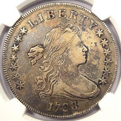 1798 Draped Bust Silver Dollar $1 BB-108 B-13 - NGC XF Details (EF) - Rare Coin