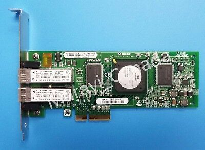 Sun 375-3356 QLogic QLE2462 4Gb Dual Port Fibre Channel FC PCIe HBA Low Profile