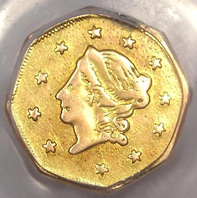 1871 Octagonal Liberty California Gold Dollar G$1 Coin BG-1104 - PCGS VF Details