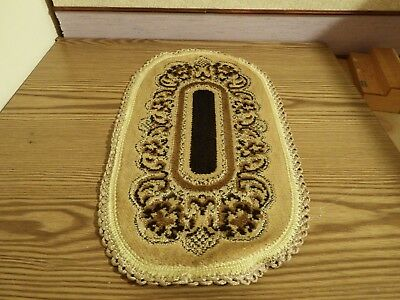 Dolls House oatmeal large oval rug/Carpet 31cm by 17cm  1.12th scale