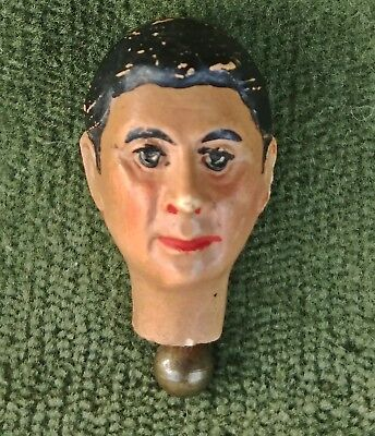 Antique Bucherer Jointed Metal Jointed Male Figure Doll Head ~ FIGURE PARTS ONLY