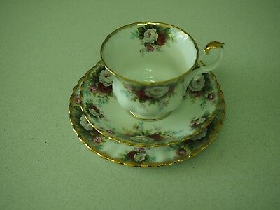 "VINTAGE ROYAL ALBERT "" Celebration"" Cup, saucer and plate"