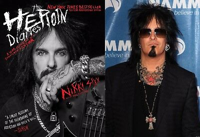 Pre-Order Nikki Sixx signed book The Heroin Diaries: 10th anniv Edition 10-27-17