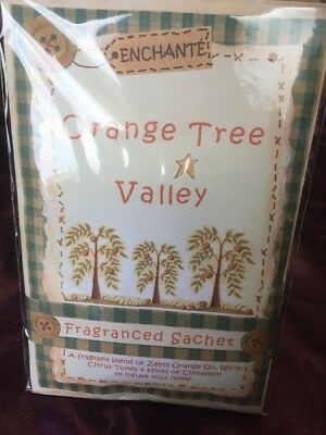 Enchante Fragranced Sachet - Orange Tree Zest - With Attached Hook