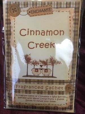 Enchante Fragranced Sachet - Cinnamon Creek - With Attached Hook