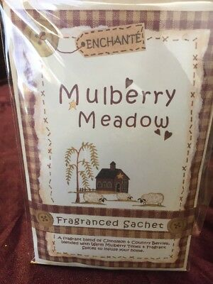 Enchante Fragranced Sachet - Mulberry Meadow - With Attached Hook
