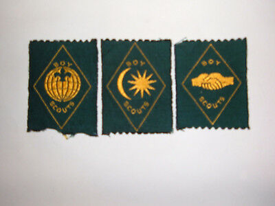 MALAYSIA 3 x BOY SCOUTS badges