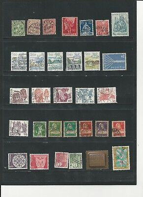 SWITZERLAND - COLLECTION OF USED STAMPS (3 PHOTOS) - #SWZ1abc