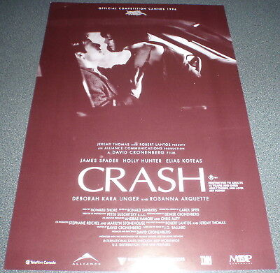 Promotional Movie Flyer : A4 : CRASH : David Cronenberg James Spader