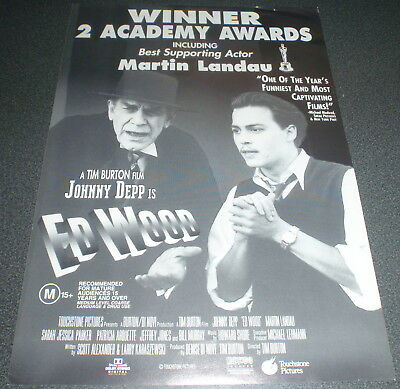 Promotional Movie Flyer : A4 : ED WOOD : Tim Burton Johnny Depp