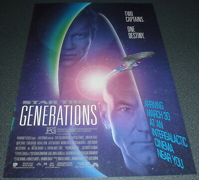Promotional Movie Flyer : A4 : STAR TREK - GENERATIONS : Picard + Kirk