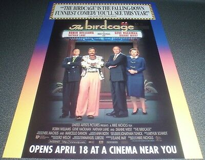Promotional Movie Flyer : A4 : BIRDCAGE, The : Robin Williams