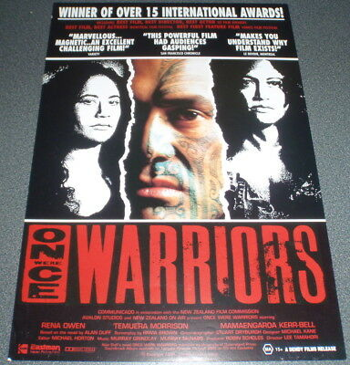 Promotional Movie Flyer : A4 : ONCE WERE WARRIORS