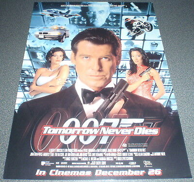 Promotional Movie Flyer : A4 : 007 - TOMORROW NEVER DIES : James Bond