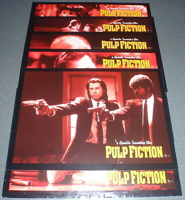 Promotional Movie Flyer : A4 : PULP FICTION : Red Sepia Set of 6