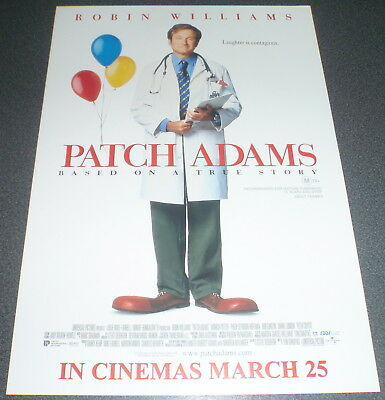 Promotional Movie Flyer : A4 : PATCH ADAMS : Robin Williams