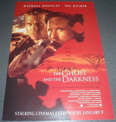 Promotional Movie Flyer : A4 : GHOST AND THE DARKNESS, The