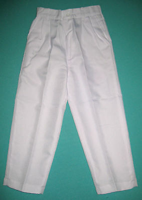 NEW Boys Formal WHITE Trousers pants in sizes 6 to 14