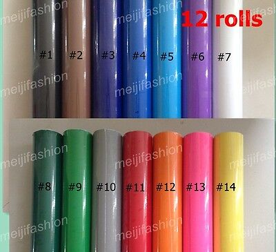 12 PCS VINYL ROLLS Vinyl Cutter Plotter, each roll 60cm*8m cutting plotter GLOSS