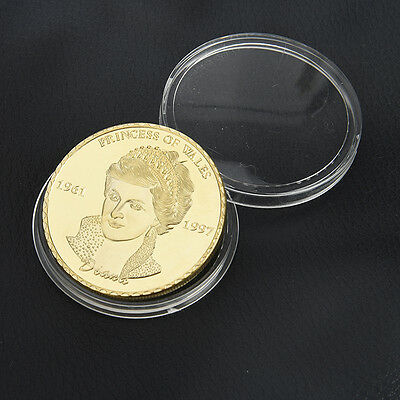 1pc Diana Princess Of Wales Rose Gold Commemorative Coin Collectible Free Ship
