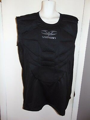 Valken Mens Impact Chest Protector Paintball Airsoft Padded Shirt Guard Blk 5XL