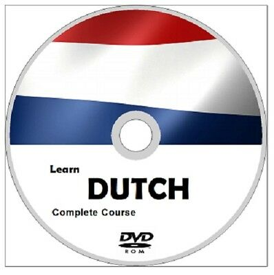 Learn to speak DUTCH COMPLETE Language Course DVD ROM MP3 AUDIO & PDF TEXTBOOKS