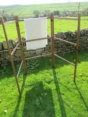 Antique Victorian Wooden Clothes Horse /Airer Rail  FABRIC ,SHOP Display Stand